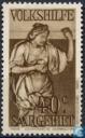 Timbres-poste - Sarre (1920-1935) - Statue « Love »
