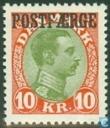 King Christian X + Postfaerge imprint