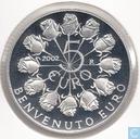 """San Marino 5 euro 2002 (PROOF) """"welcome to the euro"""""""