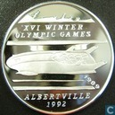 """Afghanistan 500 afghanis 1989 (PROOF - thin letters) """"1992 Winter Olympics - Bobsledding"""""""