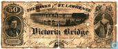 Canada The Banks of St. Lawrence 50 cents (Local payment certificate) 1857