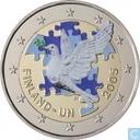 """Finland 2 euro 2005 """"60th Anniversary of UN - 50th Anniversary of Finland in UN"""""""