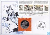 """Nederland ecubrief 1996 """"13 - Marten Toonder"""" (met stripdagen stempel)"""