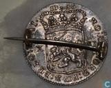 Utrecht halve gulden 1793 bewerkt tot speld