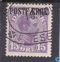 King Christian X + Postaerge imprint