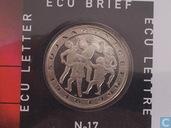 """Penningen / medailles - ECU penningen - Nederland ecubrief 1996 """"17 - 50 jaar UNICEF"""""""