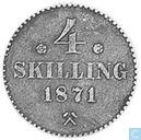 Norway 4 skilling 1871