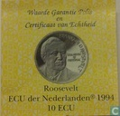 """Penningen / medailles - ECU penningen - Nederland 10 ecu 1994 """"Franklin D. Roosevelt"""""""