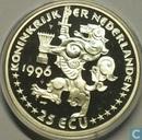 """Penningen / medailles - ECU penningen - Nederland 25 ecu 1996 """"Johannes Vermeer"""""""