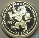 """Nederland 25 ecu 1996 """"Jacob van Campen"""""""