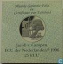 """Penningen / medailles - ECU penningen - Nederland 25 ecu 1996 """"Jacob van Campen"""""""