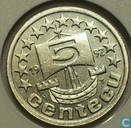 Nederland 5 centecu 1992