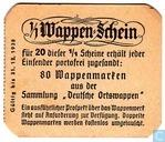 1/1 Wappen-Schein Gutschein