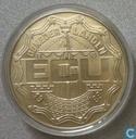 """Penningen / medailles - ECU penningen - Nederland 2½ ecu 1989 """"Christiaan & Constantijn Huygens"""""""