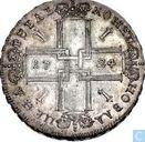 Rusland 1 roebel 1724