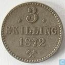 Norway 3 skilling 1872 (stars)