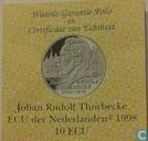 "Penningen / medailles - ECU penningen - Nederland 10 ecu 1998 ""Johan Rudolf Thorbecke"""