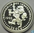 """Nederland 25 ecu 1998 """"Johan Rudolf Thorbecke"""""""