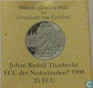 "Penningen / medailles - ECU penningen - Nederland 25 ecu 1998 ""Johan Rudolf Thorbecke"""