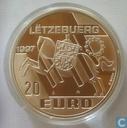 """Luxemburg 20 euro 1997 """"Michel Lentz"""""""