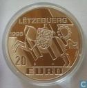 """Luxemburg 20 euro 1998 """"Echternach"""""""