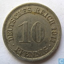 Coins - Germany - German Empire 10 pfennig 1911 (F)