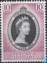 Postzegels - Maleisië - Johore - Kroning van Elizabeth II