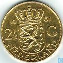 Nederland 2½ gulden 1961 verguld
