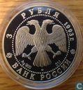 """Rusland 3 roebel 1993 (PROOF) """"Olympische Spelen-Voetbal"""""""