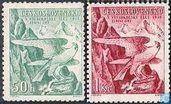 Postage Stamps - Czechoslovakia - Sokol Winter Games