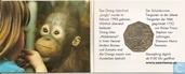 """Oostenrijk 5 euro 2002 (het Orangutan kind) """"250th Anniversary of the Schönbrunn Zoo"""""""
