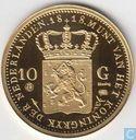 Nederland 10 gulden 1818 herslag