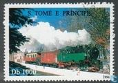 Postzegels - Sao Tomé en Principe - Spoorwegen