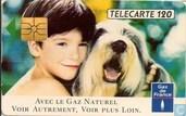 GDF Gaz de France Garcon et chien