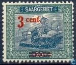 Timbres-poste - Sarre (1920-1935) - Puits de mine
