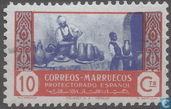 Postage Stamps - Morocco - Spanish post offices - Professions