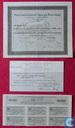 Nederlandsch-Indische Spoorwegmaatschappij, Aandeel 1000 Gulden,en 6 kleinere coupons f1000 1922 plus rechtsherstel