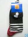 Hergé # Sokken met kuifje afbeelding blauw met rode voet maar 29/34