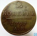 Rusland 2 kopeken 1797 (AM)