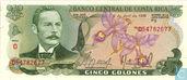 Costa Rica 5 Colones 1986