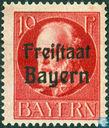 """King Ludwig III. Bavière portant la mention «Freistaat Bayern"""""""