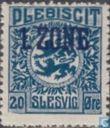 Briefmarken - Schleswig - Wappen, mit Aufdruck