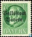 """Le roi Louis III, la mention «État populaire de la Bavière"""""""