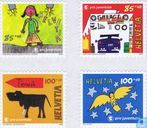 Postage Stamps - Switzerland [CHE] - Characters and designs with Ted Scapa - Pro Juventute