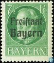 "Le roi Louis III, la mention «Freistaat Bayern"""