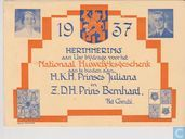 1937 Herinnering aan Uw bijdrage voor het Nationaal Huwelijksgeschenk