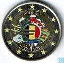 "België 2 euro 2012 (met grote vlag in het midden) ""10 Years of Euro Cash"""