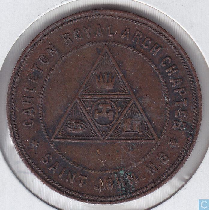 Canada Masonic Penny (Saint John. N.B.) - Commemorative ...