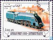 Postzegels - Afghanistan - Cinderella - Oude locomotieven