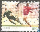 Postzegels - Noorwegen - Voetbal-Noorwegen -Brazilië-1998